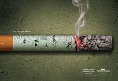 Campaña de publicidad en Donostia San Sebastian para prevenir el tabaquismo