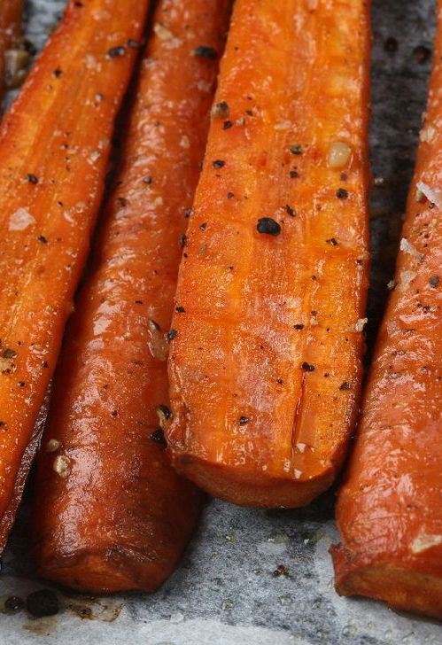 Perfect Roasted Carrots Recipe - Simple, Tasty, & Healthy - No Butter!