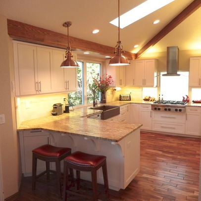 vaulted ceiling wooden floors kitchen home decorating acacia flooring kitchen remodel on kitchen remodel floor id=33211