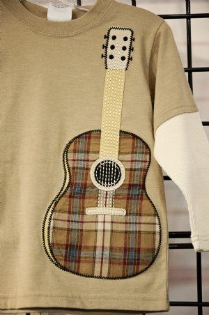 Fall 2012Boys Guitar Applique Shirt12 Months to 7 YearsNow in Stock!