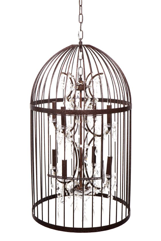 The bird cage #chandelier #rustic #character