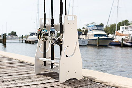 Fishing Rod Rack - Hook Design - Store and Organize up to 18 Fishing Poles and Reels  http://fishingrodsreelsandgear.com/product/fishing-rod-rack-hook-design-store-and-organize-up-to-18-fishing-poles-and-reels/  Keep your fishing poles safe in this durable, secure fishing rod holder! Store and organize up to 18 fishing poles & fishing reels Super durable and waterproof PVC composite frame allows east wash down of rods while on the rack