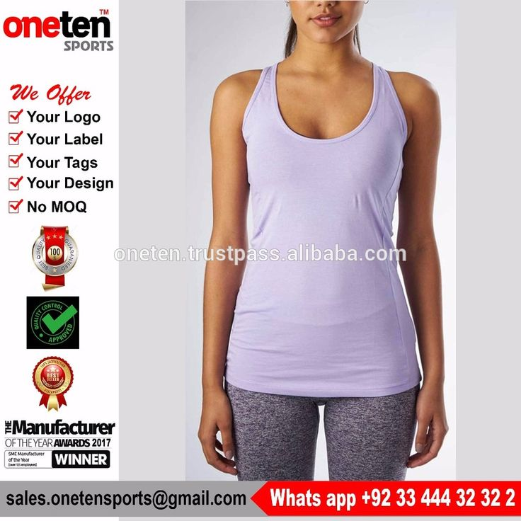 Custom gym vest 95% cotton fancy ladies tops - Ladies Gym wear
