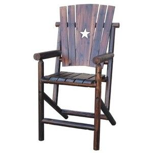 Char-Log Bar Arm Chair with Star