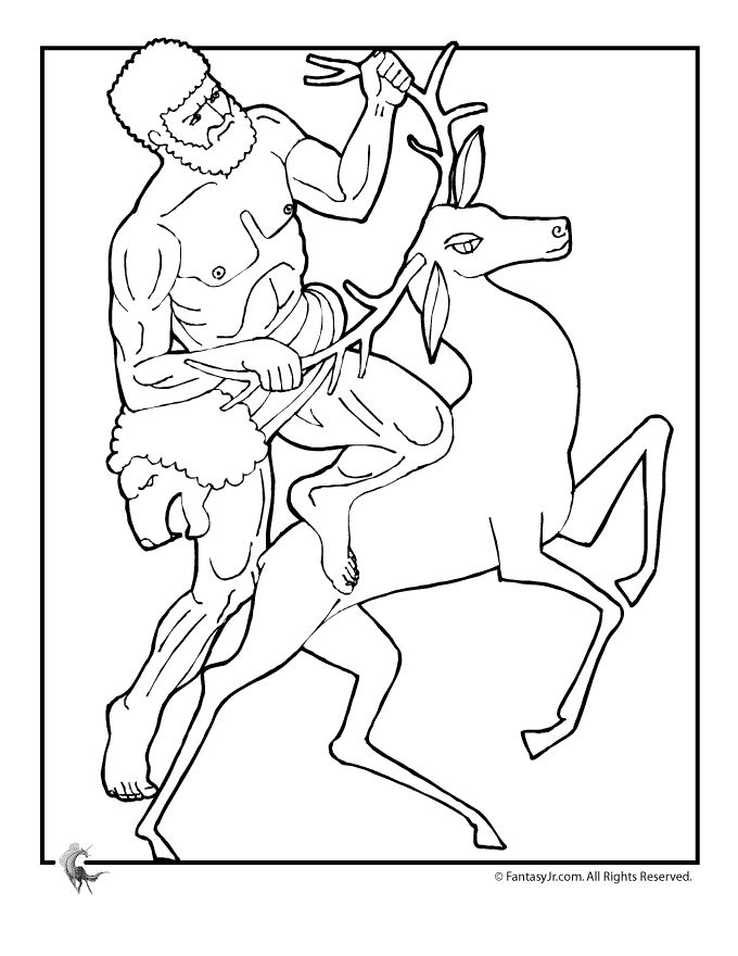 ancient greek gods and greek heroes coloring pages greek myths coloring page hercules fantasy