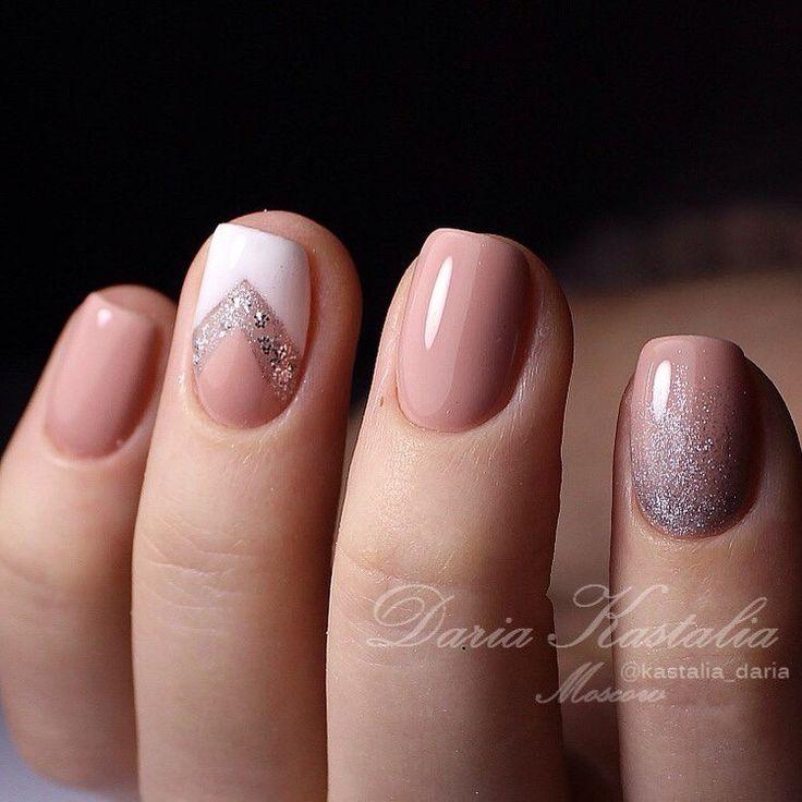 Chevron and Ombré | Glitter and Pink Nails | Geometric Nail art |Nail design | Unhas Decoradas com Rosa | Unhas Geométricas e Gradient | Nail Polish | Fancy | Chic | Elegante