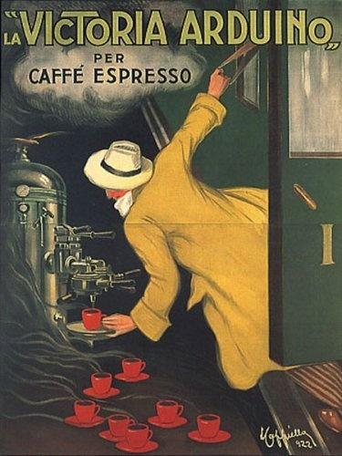 VICTORIA ARDUINO CAFEE COFFEE ESPRESSO MACHINE TRAIN ITALIA ITALY ITALIAN VINTAGE POSTER REPRO by WONDERFULITEMS, http://www.amazon.com/dp/B001W7EVB4/ref=cm_sw_r_pi_dp_7Caerb1TEBSE1