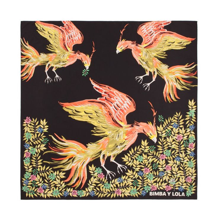 ACCESORIES Phoenix scarf BLACK