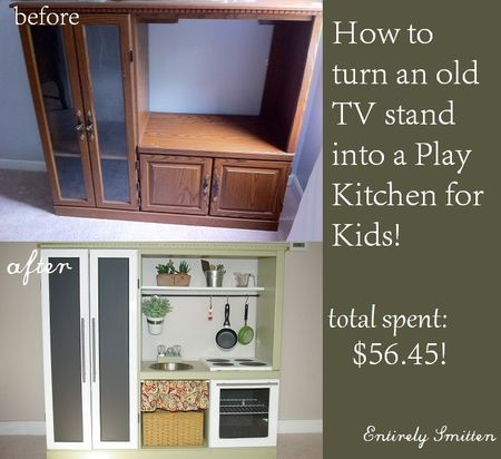 17 best images about recycle upcycle repurpose for Kitchen set for 4 year olds
