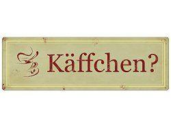 Schön METALLSCHILD Shabby Vintage Blechschild KÄFFCHEN? Küche Kaffee Café Deko  Geschenk