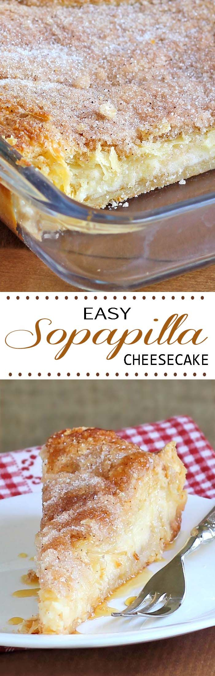 Sopapilla Cheesecake Dessert? Check. Easy? Check. So freakin' good they'll blow your mind?