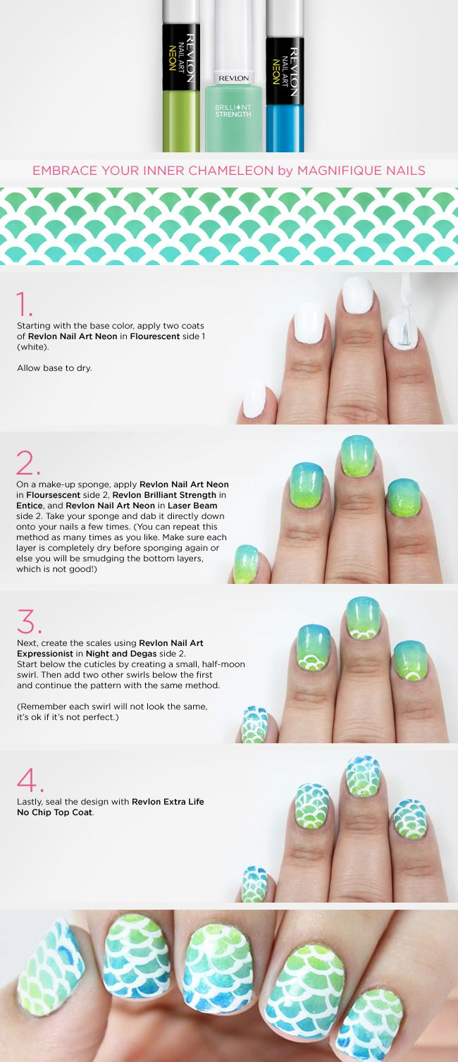Magnifique Nails Nail Art Tutorial for Revlon