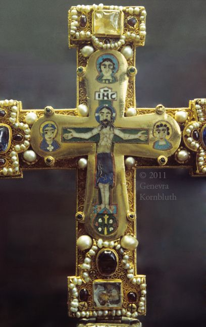 Ch.8 - Romanesque cross- the cross was a very important symbol as most life and survival revolved around religion ie the church. Naturally- there would be accessories to match.  Guelph Cross, southern Italy, 12th century