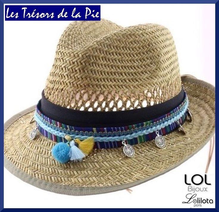 Bijou de chapeau LOL BIJOUX LOLILOTA 2016 - POMPONS & SEQUINS - Bleu