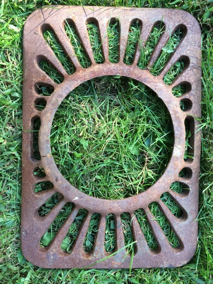 Antique Cast Iron Ornate Floor Wall Register Grate