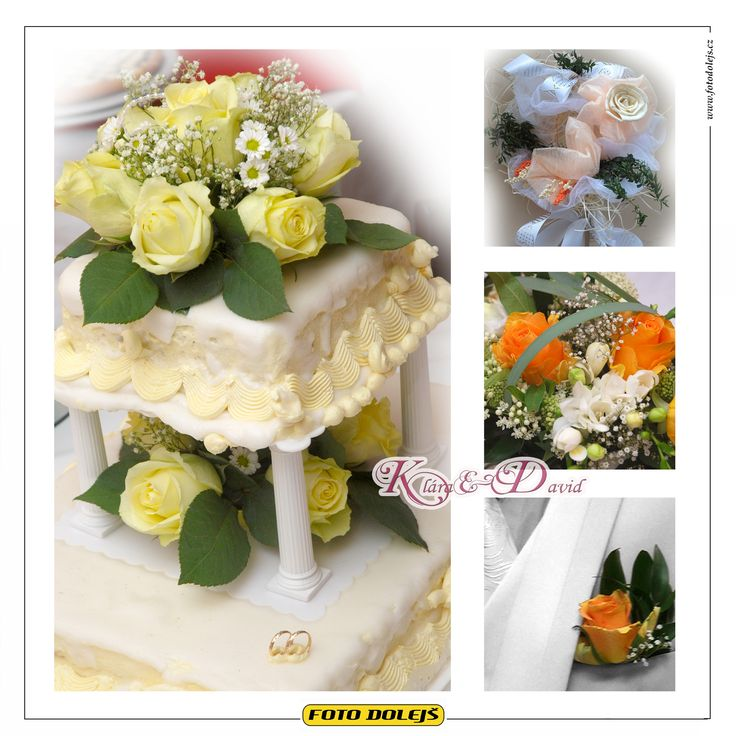 Klára a David, svatební květinová výzdoba