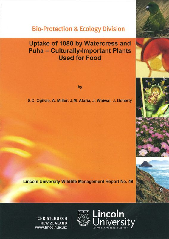 Uptake of 1080 by watercress and puha