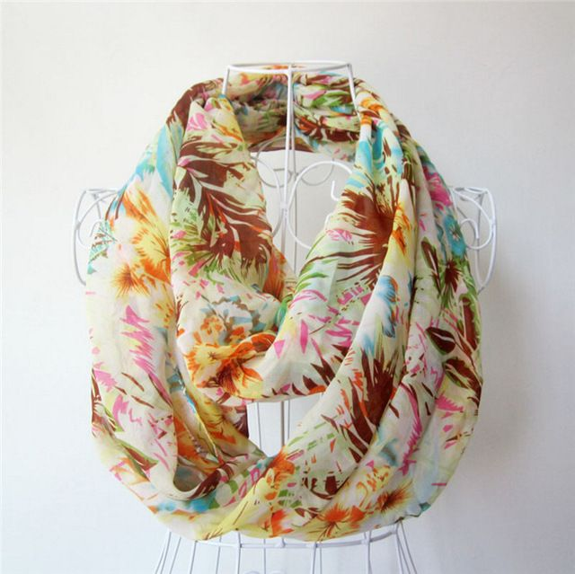 [Ode To Joy] Fashion women scarf large size tree leaf printed scarves chiffon Infinity Scarf Loop foulard scarves good quality-in Scarves from Women's Clothing & Accessories on Aliexpress.com | Alibaba Group
