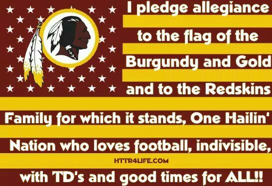 This is so awesome I'm going to say this before each Redskins game
