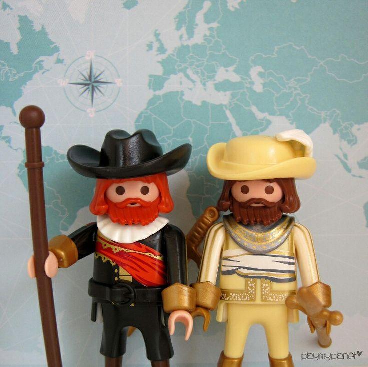 El Capitán Frans Banninck Cocq y el Teniente Willem van Ruytenburch os dan las buenas noches! #playmobil #rondadenoche #rembrandt