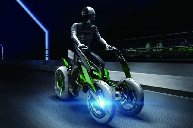 Futuristic Motorcycle, Kawasaki Built A Time Machine And Stole A Bike From The Future