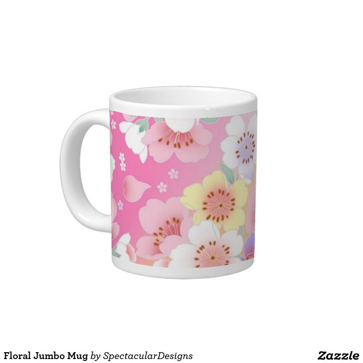 #Floral Jumbo Mug 20 Oz Large Ceramic #Coffee #Mug
