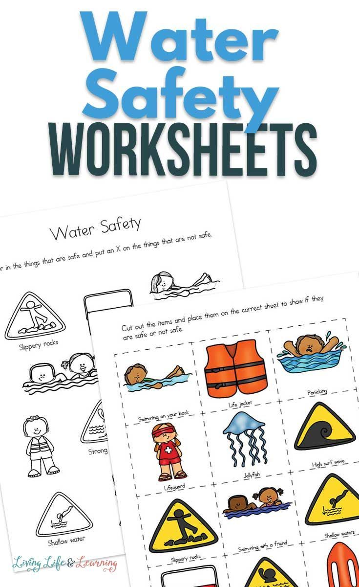 Water Safety Worksheets For Kids Water Safety Worksheets For Kids Teaching Safety Importance of water worksheets