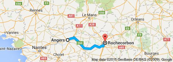 From: Angers, France To: Rochecorbon, France