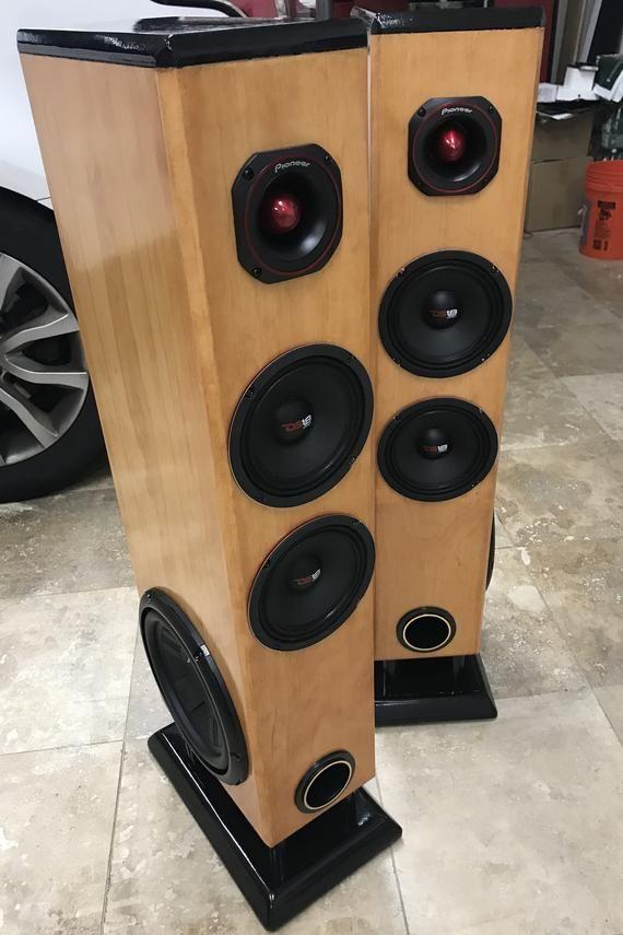 Custom Made Tower Floor Speakers Set Of Two Floor Speakers