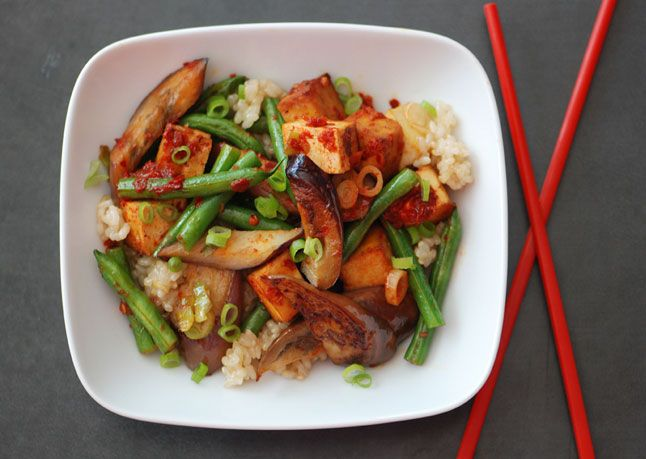 stir-fried-eggplant-and-green-beans-with-tofu-and-chili-garlic-sauce-646.jpg plus 21 more vegetarian recipes.