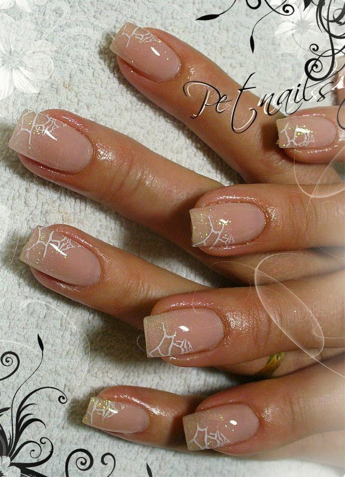 Pet Nails ...subtle bridal nail design