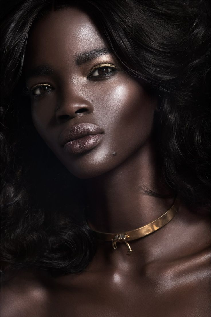 Menopausal facial dark ebony girl