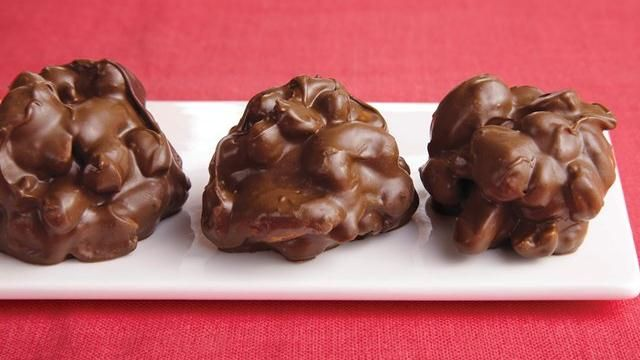 Triple Chocolate-Covered Nut Clusters: Desserts, Chocolate Nut Clusters, Recipe, Triple Chocolate Covered, Chocolates, Candy, Triple Chocolate Nut, Chocolate Covered Nut, Sweet Tooth