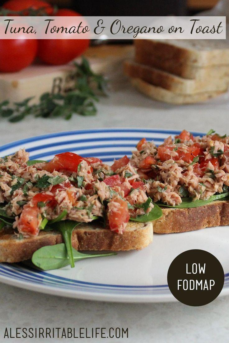 Tuna, Tomato and Oregano on Toast (low FODMAP, gluten-free, dairy-free) | A Less Irritable Life