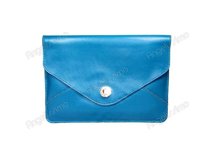 Клатч - конверт синий (бирюзовый)