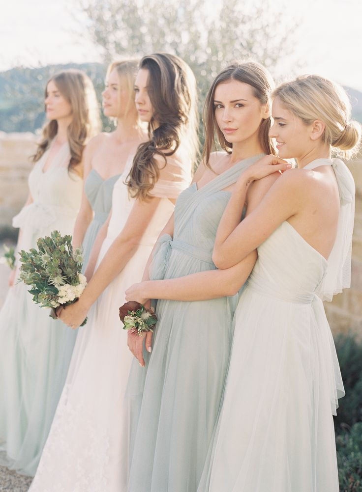 Ambre Light Grey Bridesmaid Dresses