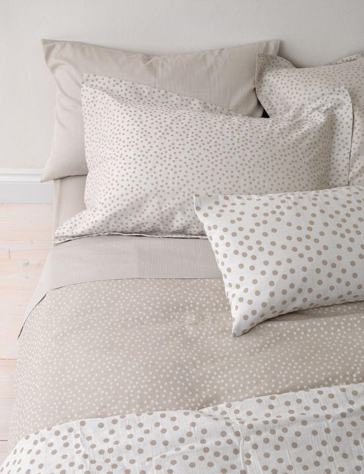 Dotty, Coffee Cream Bedding Set.bed linen