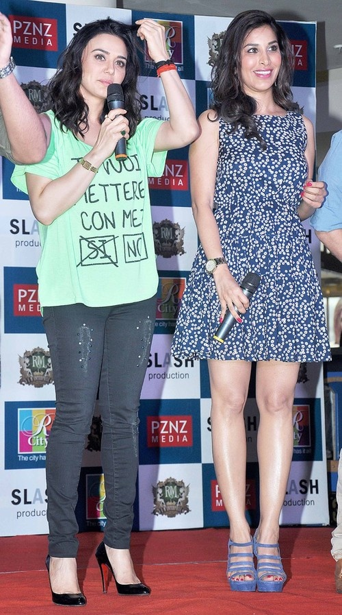 Preity Zinta, Sophie Choudry at 'Ishq In Paris' Movie Promotion Event