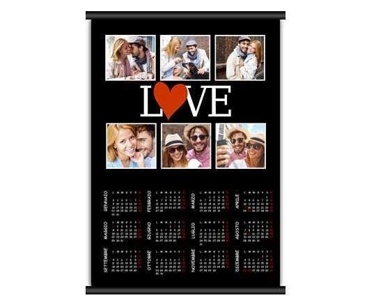 Calendario A3 pagina singola con grafica collage