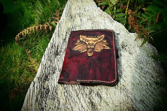 witcher kindle leather case handmade leather by PocillatorWorkshop