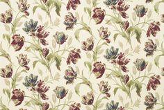 Gosford Paprika Floral Linen/Cotton Fabric