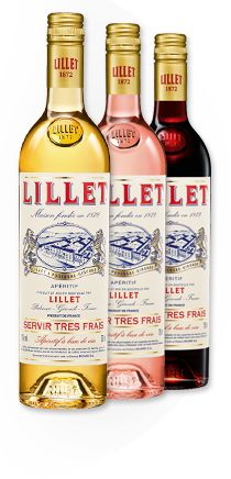 Lillet Blanc, Lillet Rouge and Lillet Rosé. Lillet is a refreshing aperitif with a smooth, fruity taste.