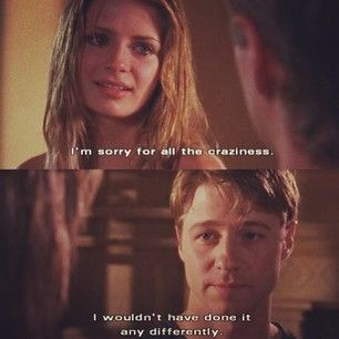 """I wouldn't have done it any differently."" -Ryan & Marissa for the last time :( #TheOC Season 3, #25: The Graduates."