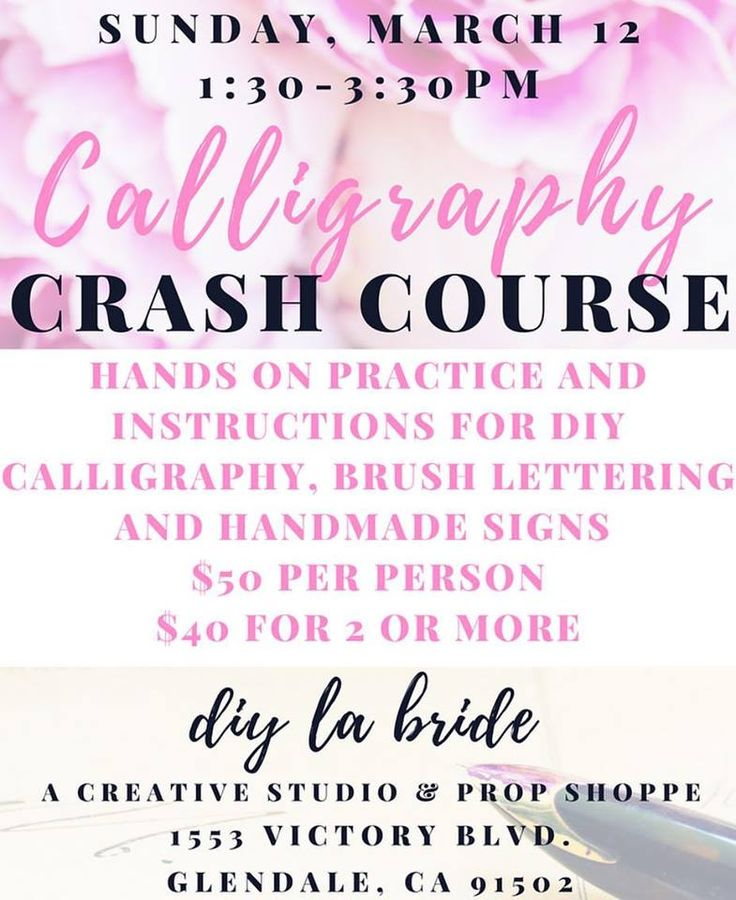 1000 Ideas About Calligraphy Classes On Pinterest