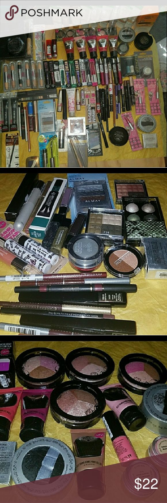 Makeup Full Size Bundle of 5 makeup itemsOnly ☡please Read This Is For 5 Makeup items  Only ☡☡Various brands mostly hard candy but other brands mix New Sealed Comes withsome free samples Please Message below if theres indiviudual.items youd like to see and please pick before purchasing thankyou!⚠ Makeup