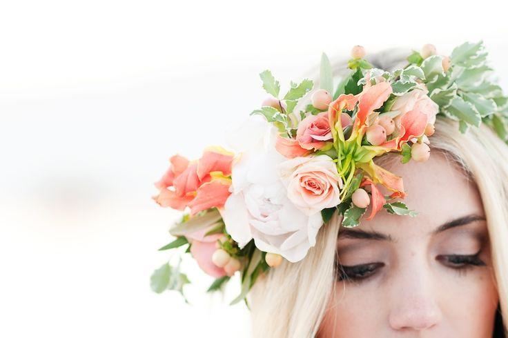 Gold Inspired Wedding Flower Halo Bridal Halo Utah Flowers Calie Rose