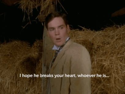 "And tried to hide his own broken heart with words he didn't mean. | 25 Times Gilbert Blythe From ""Anne Of Green Gables"" Melted Your Heart"