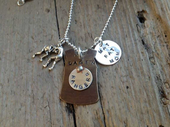 Wrestling Mom Girlfriend Grandmom Necklace with custom by tagsoup, $22.00