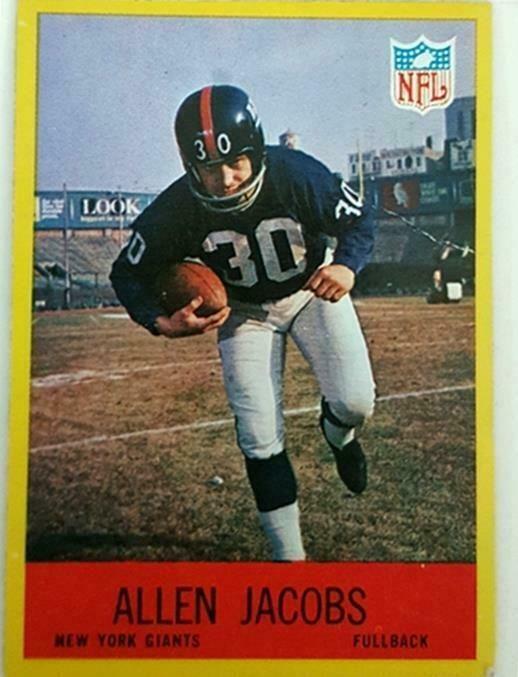 official photos 0e3e7 9ea71 Allen Jacobs Philadelphia 1967 NFL Sports Trading Card #112 ...