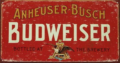 Budweiser Tin Sign at AllPosters.com